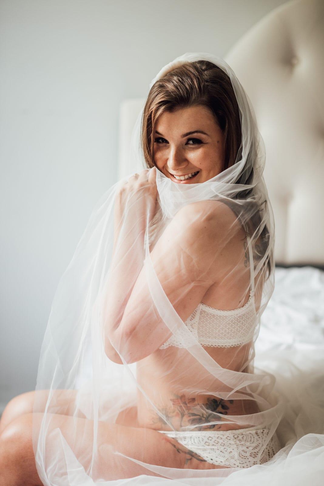 New Jersey bridal boudoir