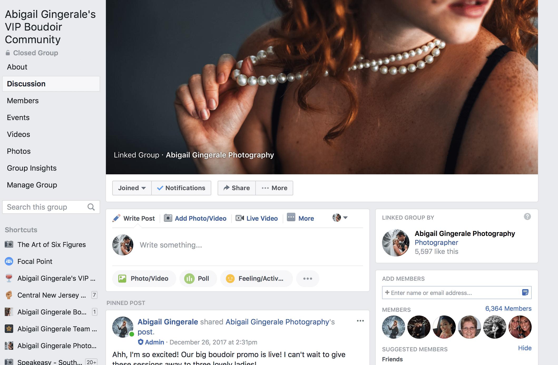 boudoir facebook community